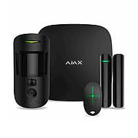 Комплект охоронной сигналізації Ajax StarterKit Plus Cam, Ethernet, LTE, Wi-Fi, Фото при тривозі, чорний