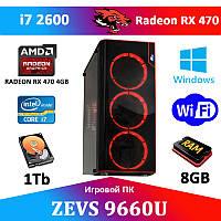 Игровой ПК ДЛЯ СТРИМА! ZEVS PC9660U i7 2600 + RX 470 4GB