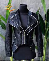 Куртка  из кожи питона под заказ