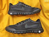 Мужские кроссовки Nike Free Run 3.0 (черные) D122 легкая летняя обувь