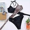 Женский стильный раздельный купальник на завязках