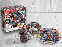 "Набор посуды для детей ""Амонг Ас"" 3-х предметный. (Тарелка 195 мм, пиала 320 мл, чашка 250 мл)."