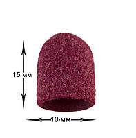 Абразивный колпачок для фрезера - 10*15 мм d-10 мм КРАСНЫЙ 80 грит