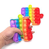 Поп ит пазл райдужний Іграшка антистрес Pop It кольоровий, фото 7