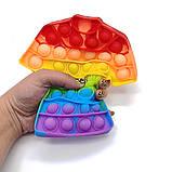 Поп ит зірка райдужна Іграшка антистрес Pop It кольоровий, фото 9