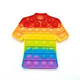 Поп ит зірка райдужна Іграшка антистрес Pop It кольоровий, фото 10