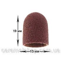 Абразивный колпачок для фрезера - 13*19 мм d-13 мм КОРИЧНЕВЫЙ 100 грит