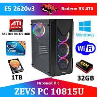 Игровой Монстр ПК ZEVS PC10815U 6 ЯДЕР + RX 470 4GB + 240GB SSD