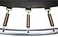 Спортивний Батут Just Fun 305 см Multicolor з Внутрішньої Сіткою + Сходи (Навантаження 150 кг), фото 7
