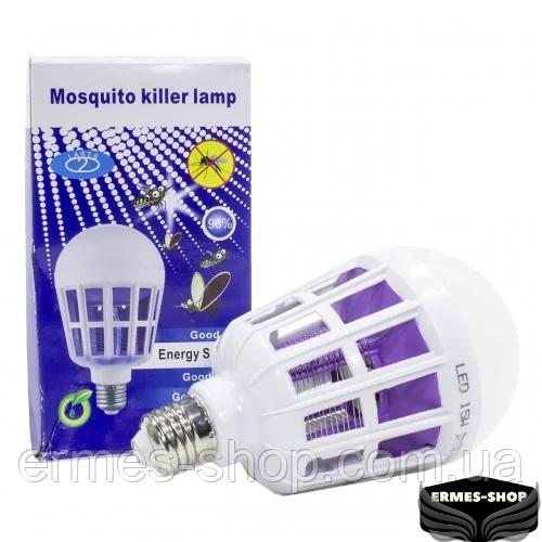 Светодиодная лампа-приманка для насекомых Mosquito Killer Lamp | Антимоскитная лампа-светильник