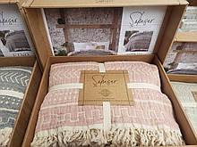 Покривало на ліжко з органічного мусліну етно 220*240