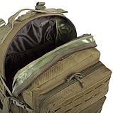 Рюкзак тактичний військовий штурмовий SILVER KNIGHT 30 л Нейлон Оксфорд Оливковий (1512), фото 6