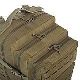 Рюкзак тактичний військовий штурмовий SILVER KNIGHT 30 л Нейлон Оксфорд Оливковий (1512), фото 7