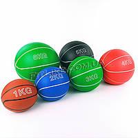 Медбол резиновый 1кг, 2кг, 3кг, 4кг, 5кг, 6 кг (спортивный мяч для тренировок и фитнеса)
