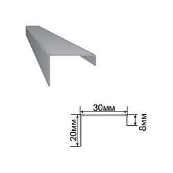 Армуючий профіль для вікон ПВХ 8x30x20