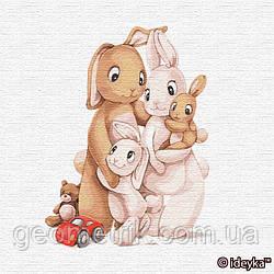 Картини за номерами. Маленька родина кроликів 30х30см арт. КНО2361
