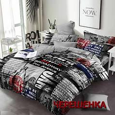 """Полуторный набор постельного белья 150*220 из Бязи """"Gold"""" №151266AB Черешенка™"""