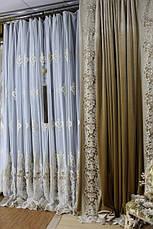 Тюли и шторы премиум сегмент с 3D цветами (Esсardin)