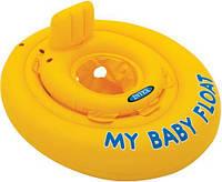 Надувной круг-плотик для плавания со спинкой (70 см) 56585