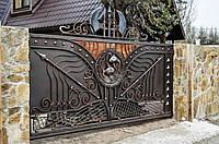 Откатные кованые ворота с калиткой. Эксклюзивная ручная ковка. Фурнитура Итальянского пр-тва. Под ключ