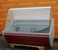 Холодильная кондитерская витрина «Технохолод Флорида» 1.6 м. (Украина), широкая выкладка 70 см., Б/у
