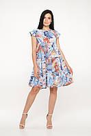 Легке плаття бавовна (синій), фото 1