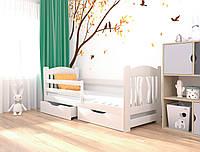 """Ліжко дитяче підліткове """"Оскар"""" 90*190 дерев'яна масив бук, фото 1"""