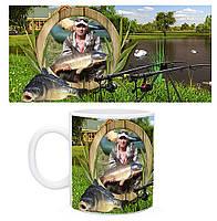 Чашка з фото Рибаку / Гуртка з фото для любителя риболовлі