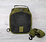 Однолямковий рюкзак - сумка зеленого кольору (50426), фото 4