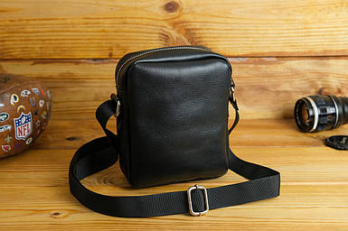 Мужская сумка Модель №64 лайт, гладкая кожа, цвет Черный