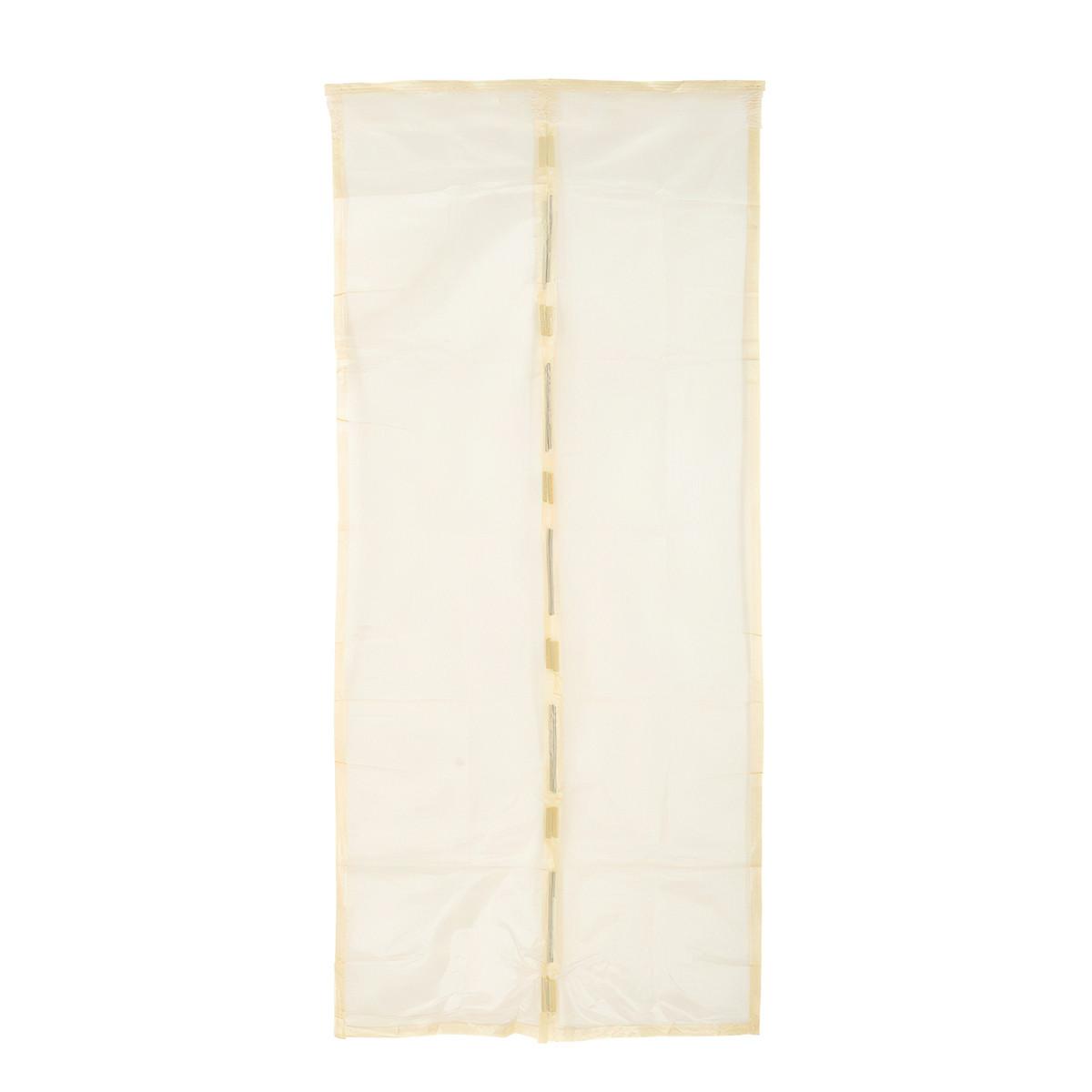Антимоскитная сетка на дверь на магнитах Бежевая 100х210 см, сетка от комаров на магнитах (ST)