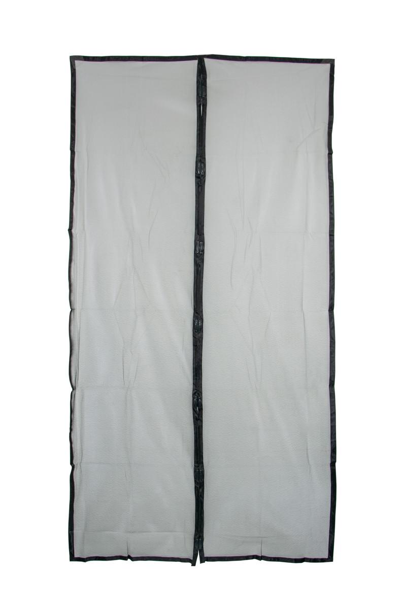 Дверна москітна сітка на магнітах Чорна 100х210 см, сітка на двері від комарів | москитная сетка на дверь