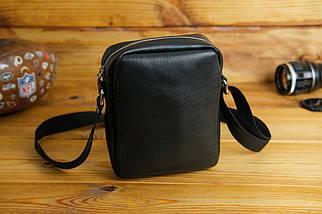 Мужская сумка Модель №64 лайт, гладкая кожа, цвет Черный, фото 2