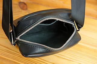 Мужская сумка Модель №64 лайт, гладкая кожа, цвет Черный, фото 3