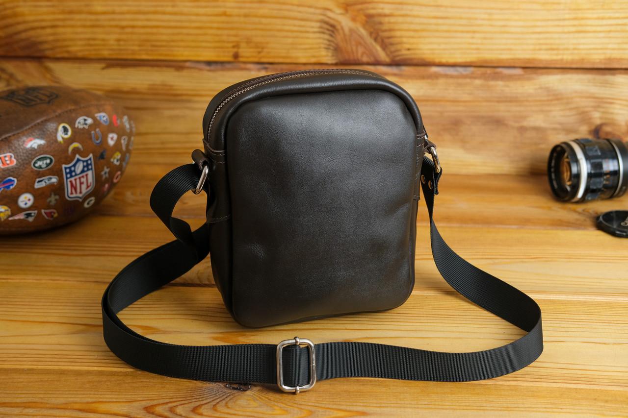 Мужская сумка Модель №64 лайт, гладкая кожа, цвет Шоколад