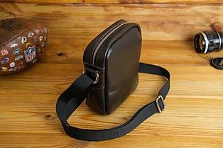 Мужская сумка Модель №64 лайт, гладкая кожа, цвет Шоколад, фото 2