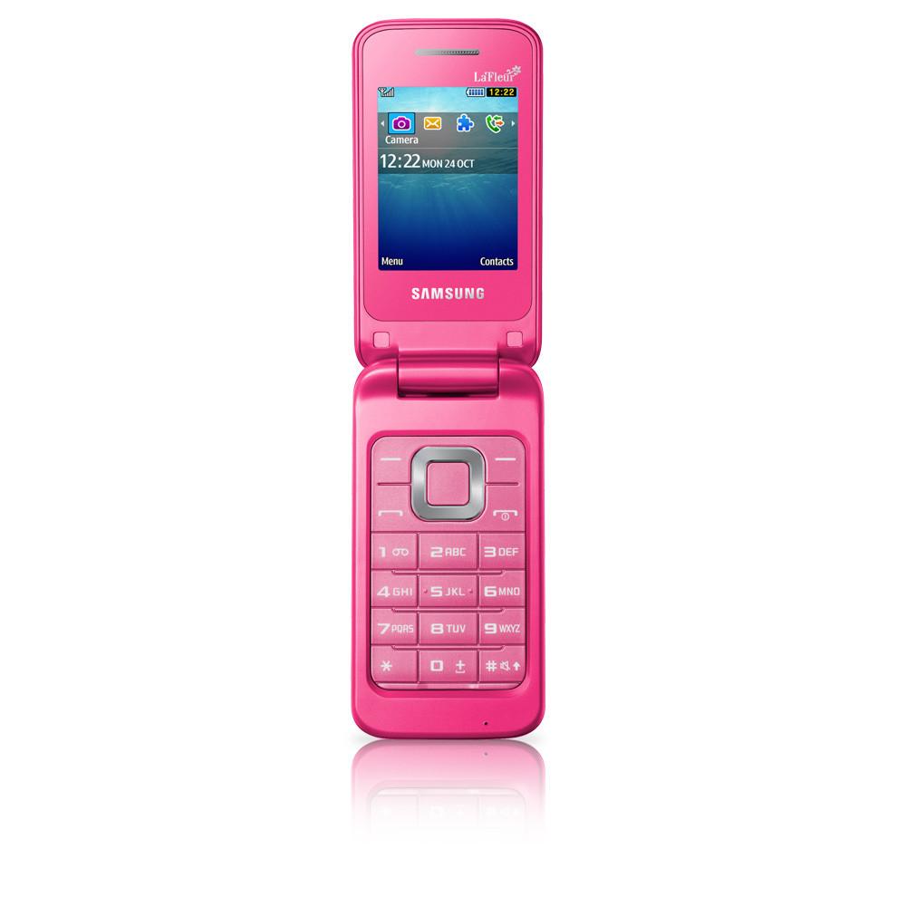 Мобильный телефон Samsung C3520 Coral Pink раскладушка 800 мАч