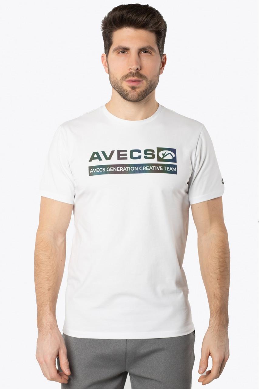 Футболка мужская AVECS (белая)