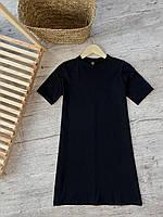 Универсальное чёрное платье-футболка