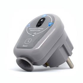 Електронний терморегулятор у розетку  для рушникосушки сірий ERAFLYME 16TG