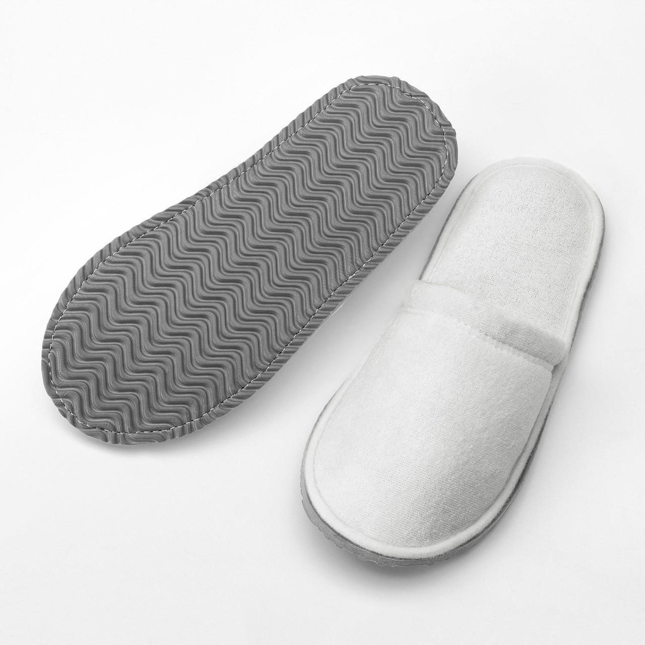Передплата! Тапочки домашні білі IKEA TASJON 41-43 30 см 803.920.23