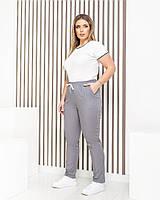 Спортивные штаны больших размеров женские серый, 48-50