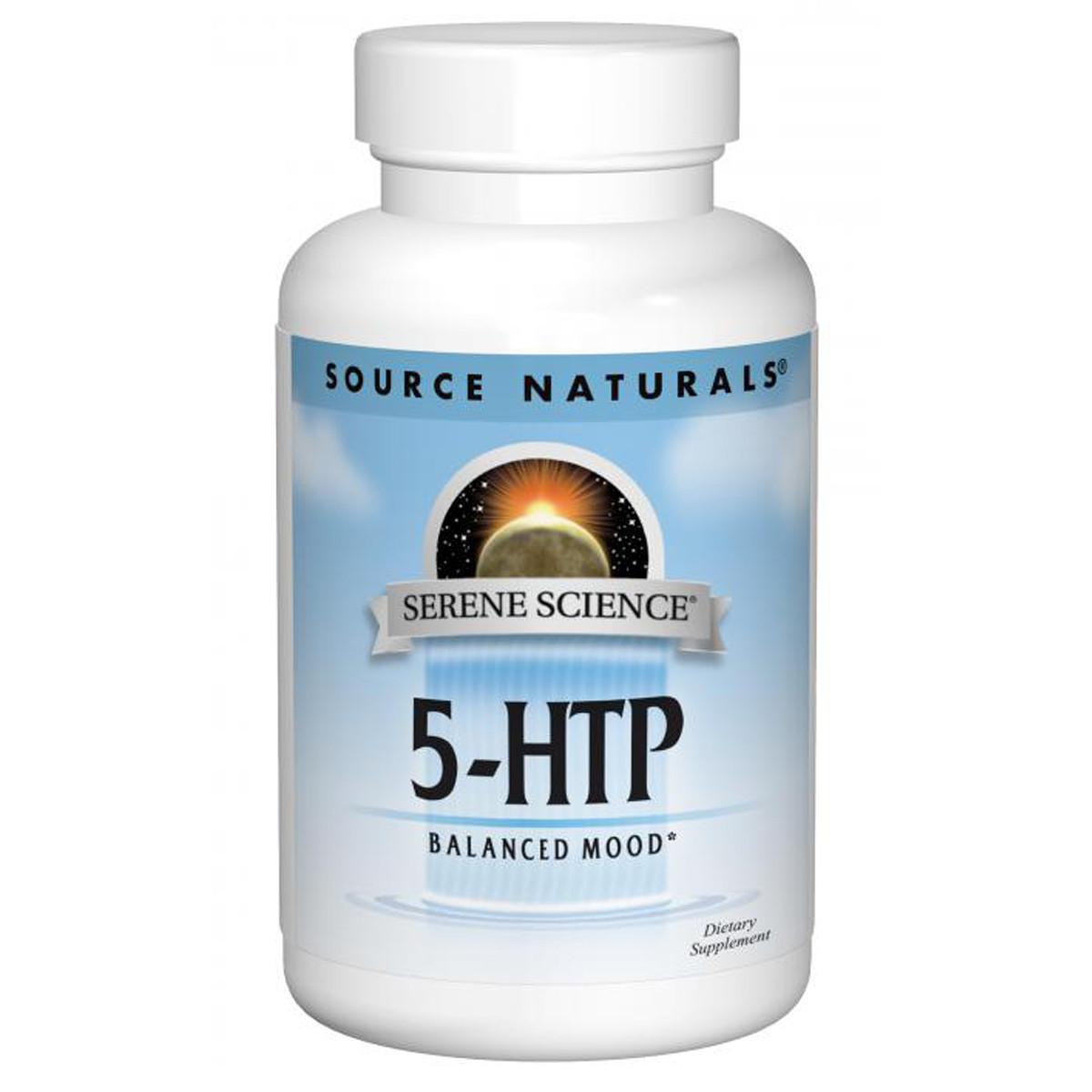 5-HTP (Гидрокситриптофан), 50 мг, Serene Science, Source Naturals, 30 желатиновых капсул