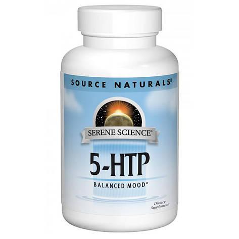 5-HTP (Гидрокситриптофан), 50 мг, Serene Science, Source Naturals, 30 желатиновых капсул, фото 2