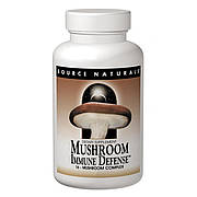 Комплекс из 15 Разновидностей Грибов, Mushroom Immune Defense, Source Naturals, 60 таблеток