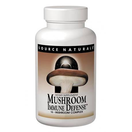 Комплекс из 15 Разновидностей Грибов, Mushroom Immune Defense, Source Naturals, 60 таблеток, фото 2