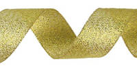 Лента парча золотая 4 см длина 23 м