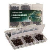 Набір намистинок гумових ET 6 видів в коробочці (чорні)