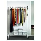 Стійка для одягу IKEA RIGGA біла рига 502.316.30, фото 2