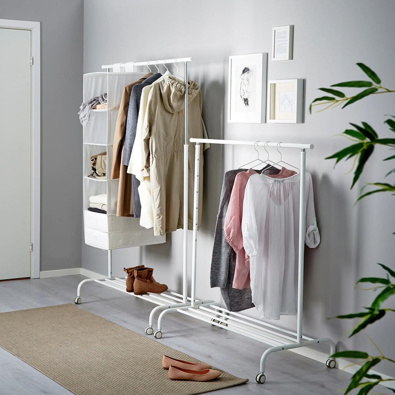 Стойка для одежды IKEA RIGGA белая рига 502.316.30